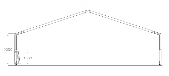 Technical drawing of a lunging hall.